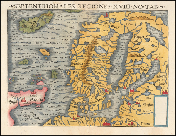 96-Baltic Countries, Scandinavia and Iceland Map By Sebastian Munster