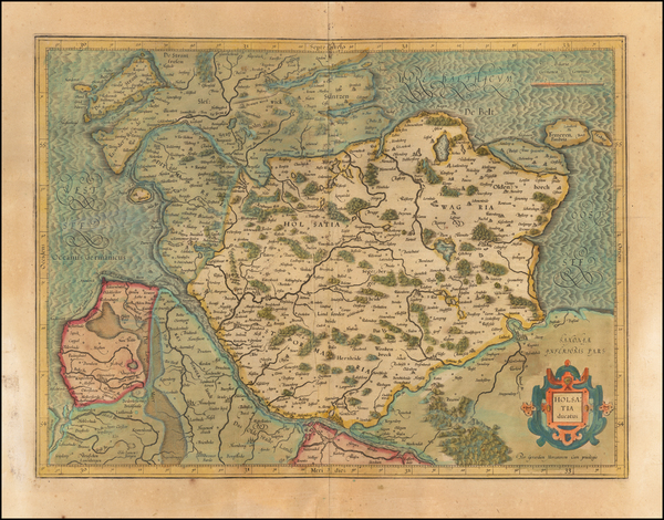 63-Germany Map By  Gerard Mercator