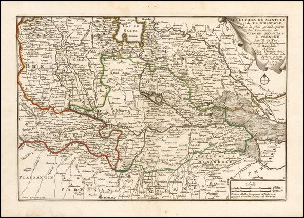 81-Northern Italy Map By Nicolas de Fer