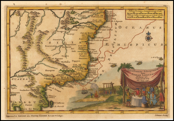 Brazil Map By Pieter van der Aa
