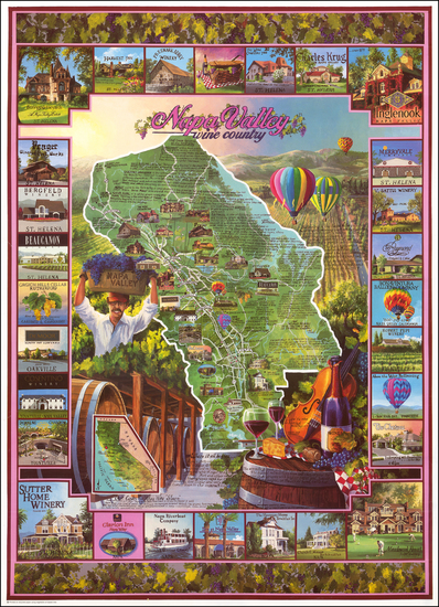 3-Pictorial Maps and California Map By Randy Green