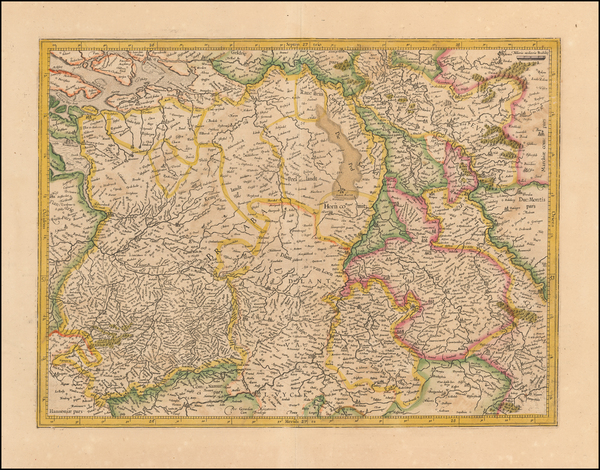 1-Netherlands and Belgium Map By  Gerard Mercator