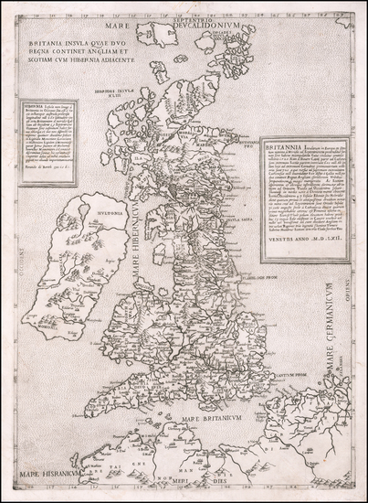 61-British Isles Map By Ferrando Bertelli
