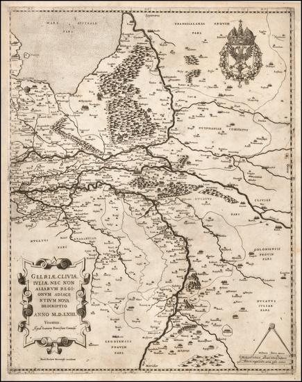 2-Netherlands Map By Paolo Forlani / Giovanni Francesco Camocio