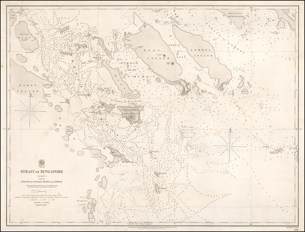 64-Singapore and Indonesia Map By British Admiralty