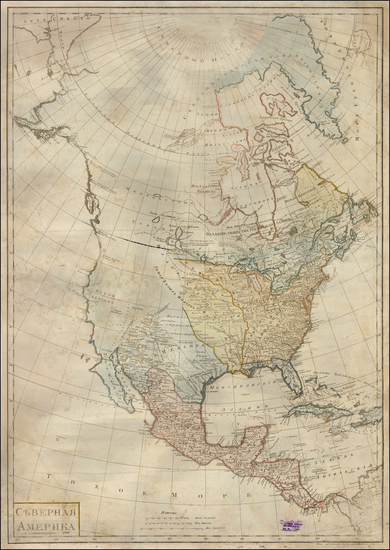 47-Pacific Northwest and North America Map By Anonymous
