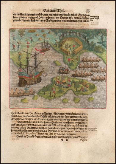 35-Brazil Map By Theodor De Bry