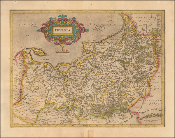 75-Germany, Poland and Baltic Countries Map By  Gerard Mercator