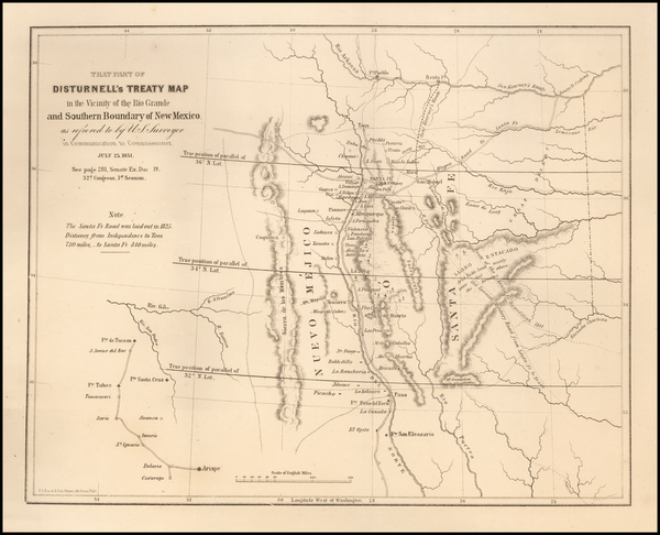 66-Texas, Southwest and New Mexico Map By U.S. Government