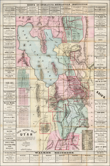 18-Utah and Utah Map By B.A.M. Froiseth