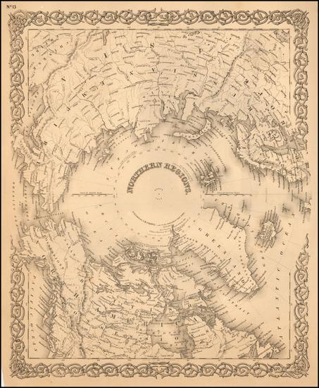 21-Polar Maps Map By G.W.  & C.B. Colton