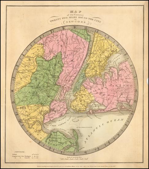 6-New York City Map By David Hugh Burr