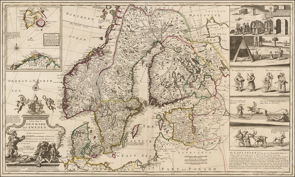 99-Baltic Countries, Scandinavia and Denmark Map By Herman Moll