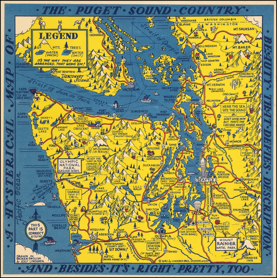 94-Washington Map By Lindgren Brothers