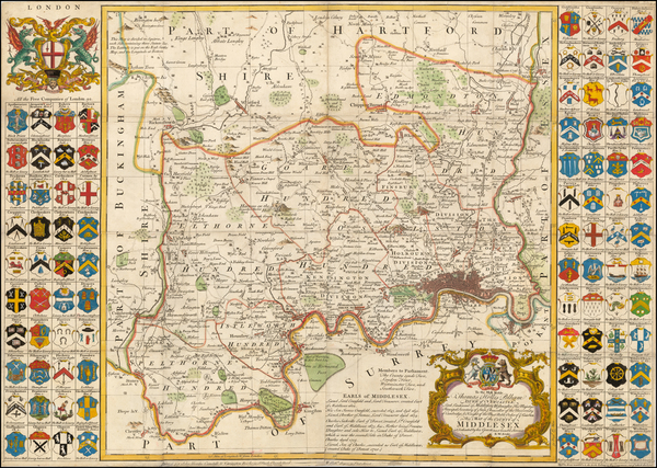 11-British Counties Map By Robert Sayer / Carrington Bowles / Richard William Seale / John Bowles