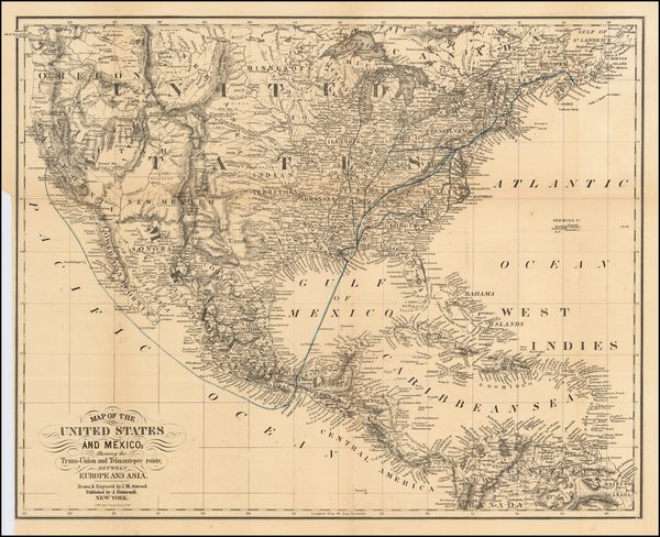 31-United States, Central America and California Map By John Disturnell