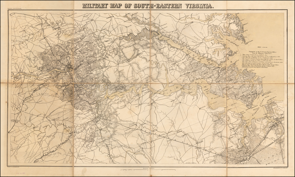 36-Virginia and Civil War Map By Adolph Lindenkohl