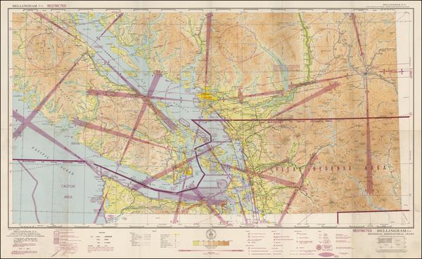 52-Washington and Canada Map By U.S. Coast & Geodetic Survey