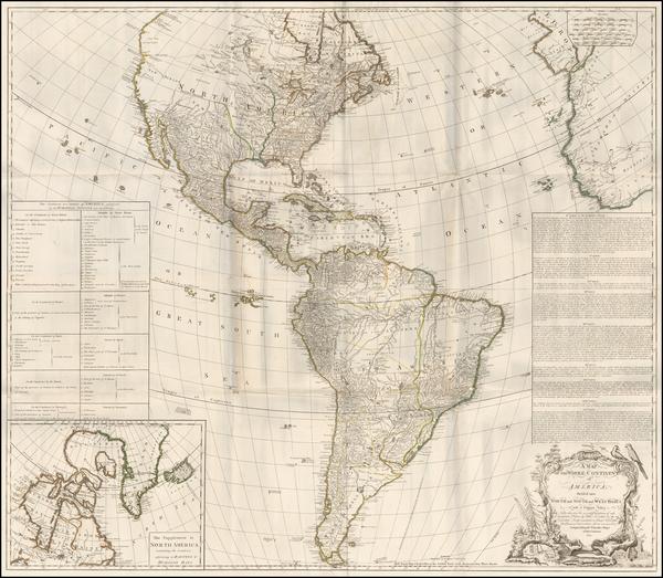 43-America Map By Robert Sayer