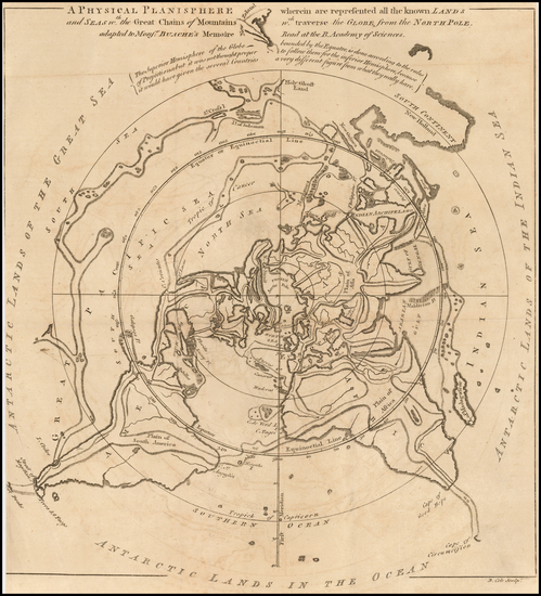 44-World and Polar Maps Map By Gentleman's Magazine