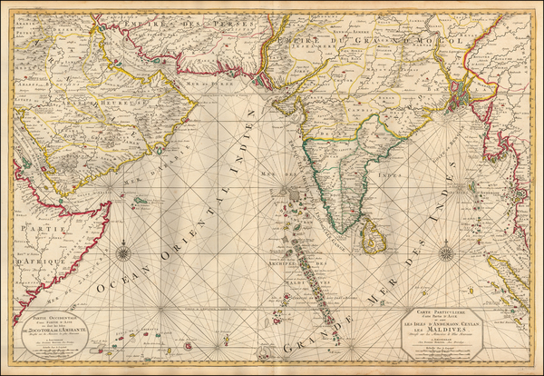 42-Indian Ocean, India and Middle East Map By Pieter Mortier