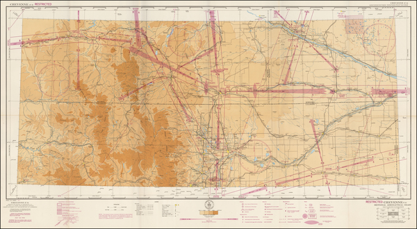 58-Wyoming Map By U.S. Coast & Geodetic Survey