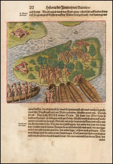 11-Brazil Map By Theodor De Bry