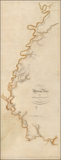 69-South, Louisiana, Mississippi and Arkansas Map By Joseph Frederick Wallet Des Barres