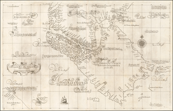 48-South America, Argentina and Chile Map By Robert Dudley