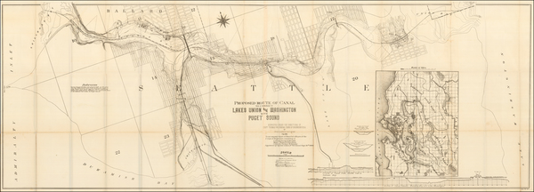 16-Washington Map By United States Bureau of Topographical Engineers