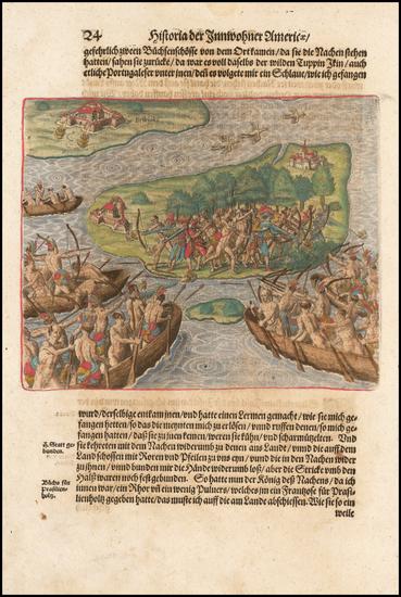 95-Brazil Map By Theodor De Bry