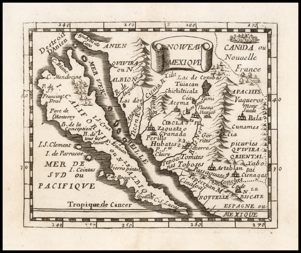 61-Baja California, California and California as an Island Map By Pierre Du Val