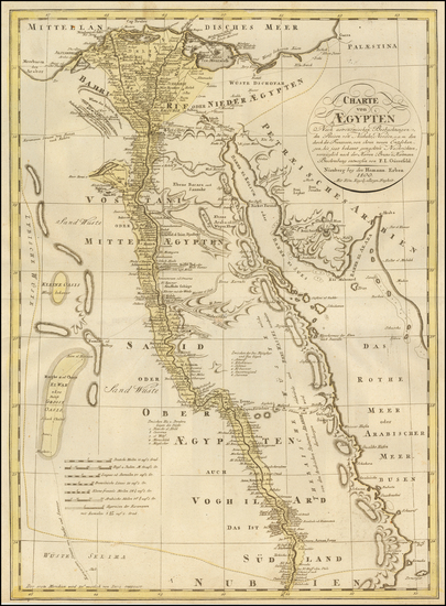 95-Egypt Map By Franz Ludwig Gussefeld