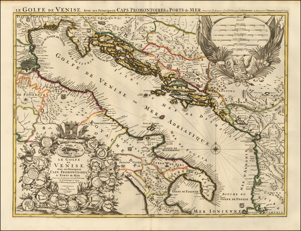 96-Balkans and Southern Italy Map By Pieter Mortier