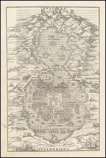 25-Mexico Map By Giovanni Battista Ramusio