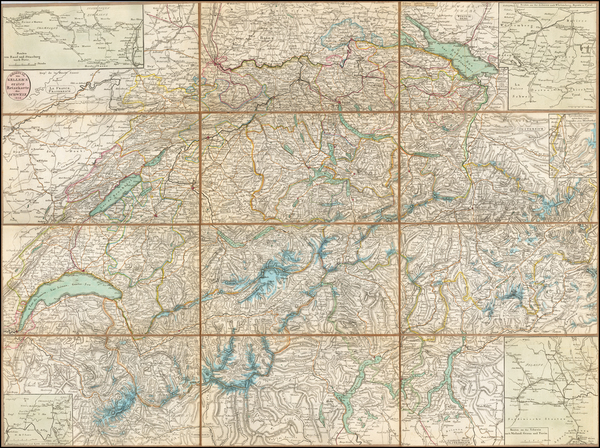1-Switzerland Map By Heinrich Keller