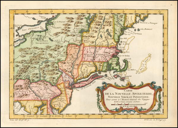 62-New England, Massachusetts, New York State, Mid-Atlantic, New Jersey and Pennsylvania Map By Ja