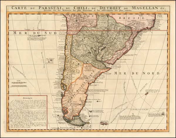 37-Argentina, Chile and Paraguay & Bolivia Map By Henri Chatelain