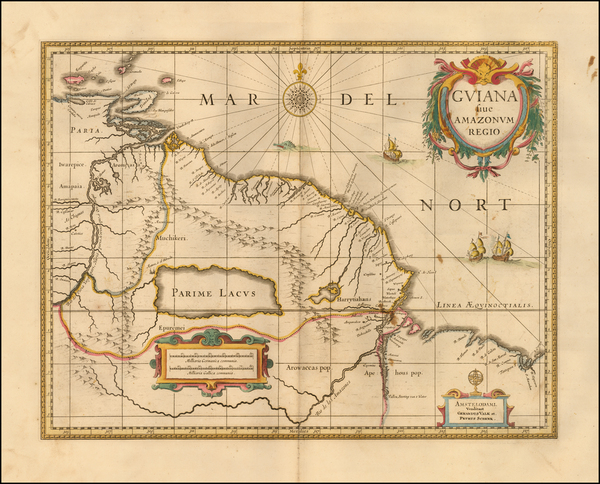 97-Brazil, Guianas & Suriname and Venezuela Map By Peter Schenk  &  Gerard Valk