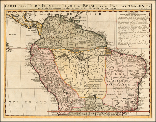 65-Colombia, Brazil, Paraguay & Bolivia, Peru & Ecuador and Venezuela Map By Henri Chatela