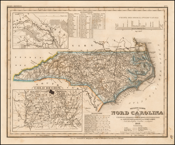 30-North Carolina Map By Joseph Meyer