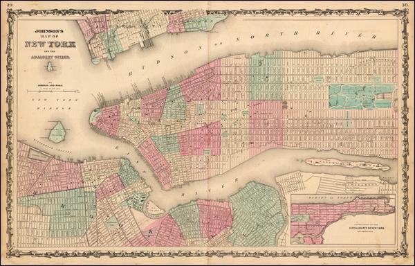 77-Mid-Atlantic Map By Benjamin P Ward  &  Alvin Jewett Johnson