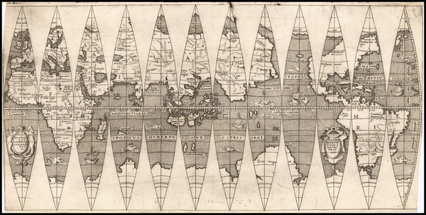 59-World and Celestial Maps Map By Francois Demongenet