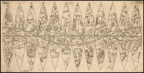 0-Celestial Maps Map By Francois Demongenet