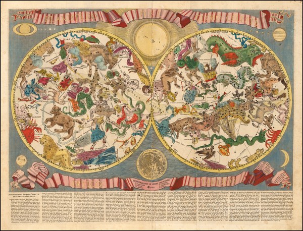 Celestial Maps Map By Francesco Brunacci / Giacomo Giovanni Rossi