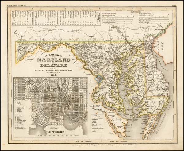 Maryland and Delaware Map By Joseph Meyer