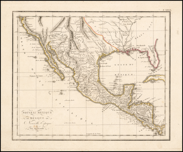 0-Texas, Plains, Southwest, Rocky Mountains, Mexico and California Map By Anonymous