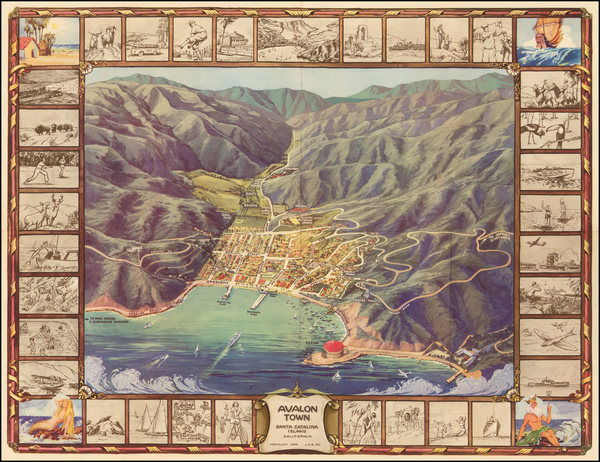 47-Pictorial Maps, California and Other California Cities Map By L.C.B. Co.