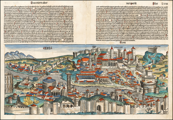 63-Rome Map By Hartmann Schedel