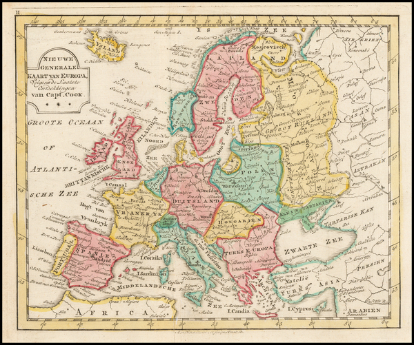 Europe Map By Jan Barend Elwe